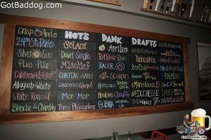 beer menu Hot's