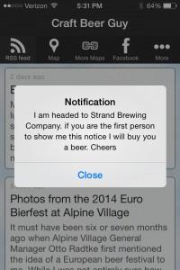 mobile app alert